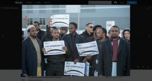 Amazon Workers Protesting Working Conditions and Corporate Surveillance in Shakopee, Minnesota