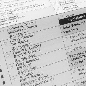 Ballot for 2016 Election