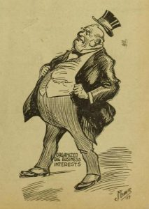 Cartoon of Organized Big Business Interests in 1919