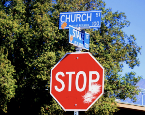 Street Sign: Intersection of Church and State.
