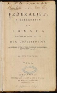 First Collection of the Federalist Papers