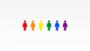 Human Figures in Multiple Colors