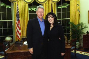 President Bill Clinton and Monica Lewinsky
