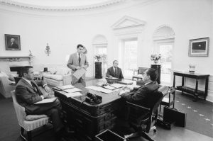 President Richard Nixon and Advisors
