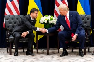 President Donald Trump with Ukrainian President Vlodymyr Zelensky