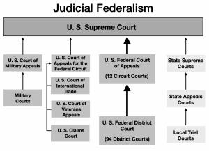 Diagram of Judicial Federalism