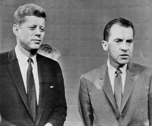 Presidential Candidates John F. Kennedy and Richard Nixon in 1960