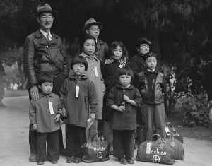 The Mochida Family Being Relocated Against Their Will to a Detention Center in 1942