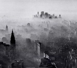 Air pollution in New York City, 1966.