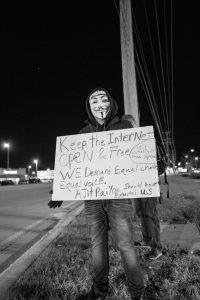 Net Neutrality Demonstrator at Verizon