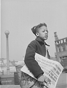Selling the Chicago Defender in 1942