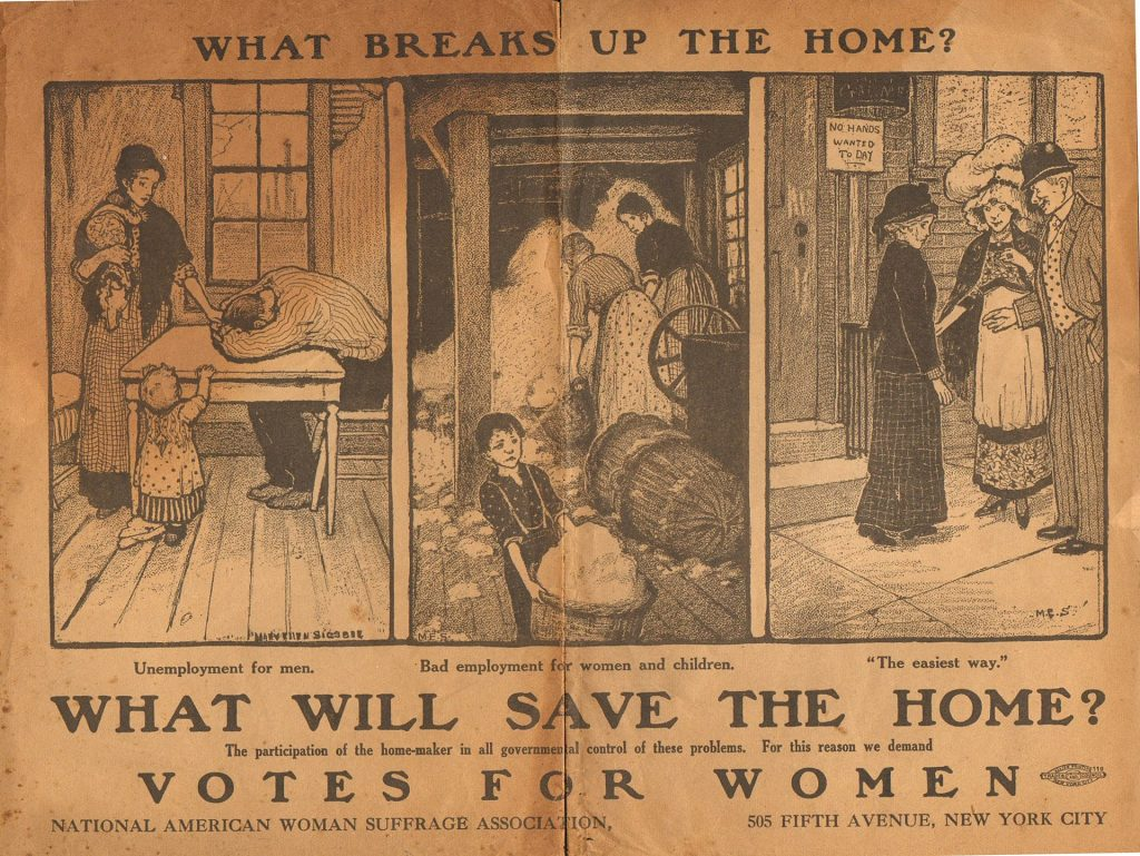 Advertisement by the National American Woman Suffrage Association in 1917