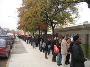 Standing in Line to Vote