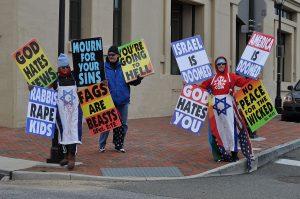 Demonstrators from Westboro Baptist Church