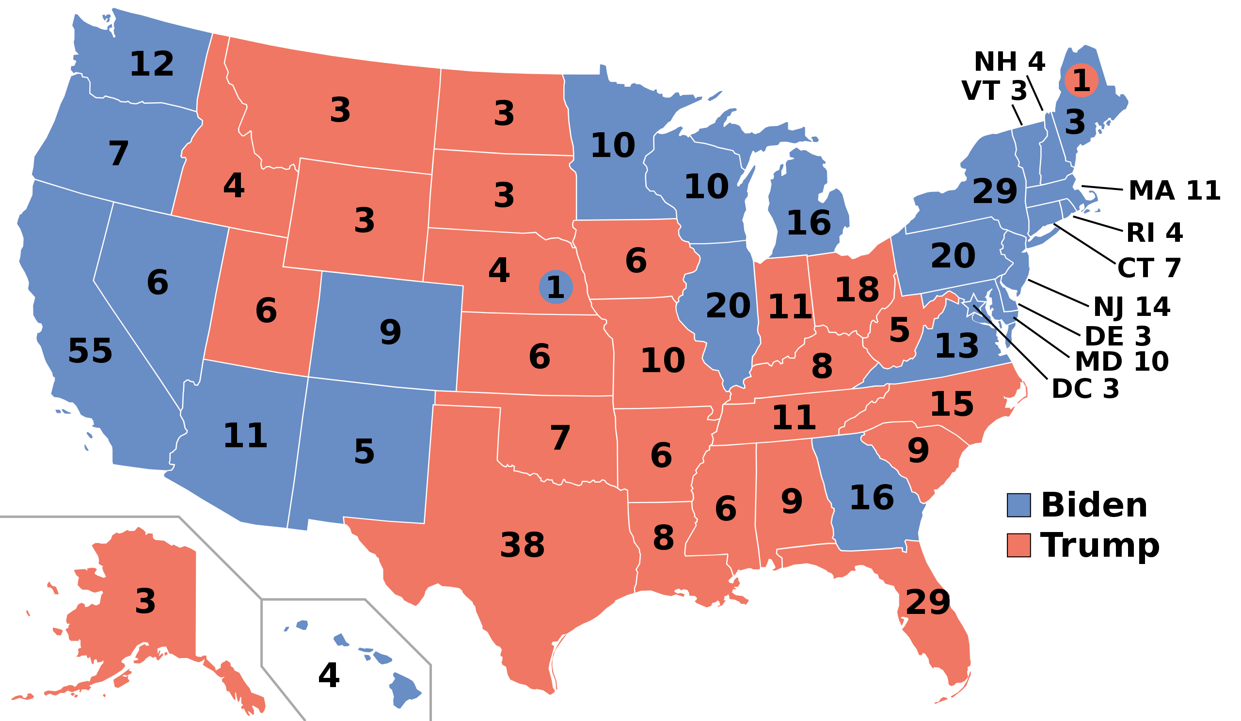 Electoral College Votes by State 2020