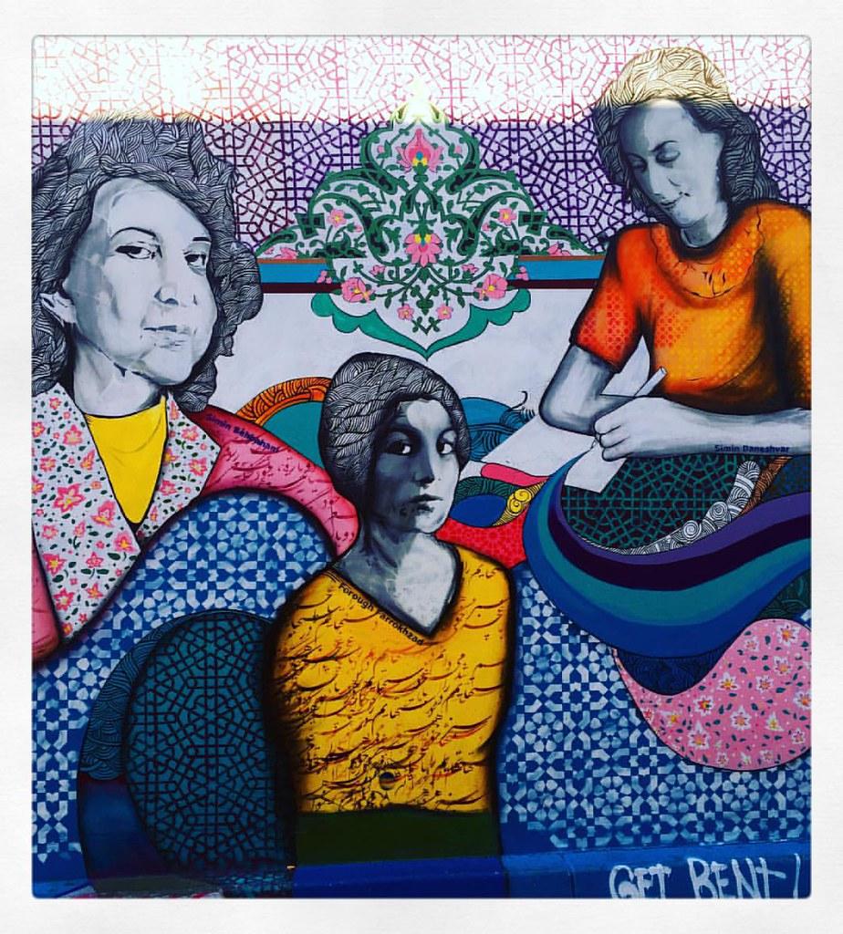 artwork showing three generations of women